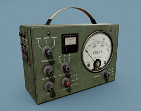 3D asset Radio Old Military