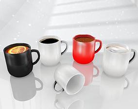 Mug Hot Drinks Pack 3D asset