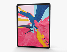 3D Apple iPad Pro 12-9-inch 2018 Space Gray