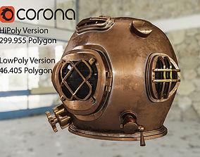 Old Diver Helmet 3D