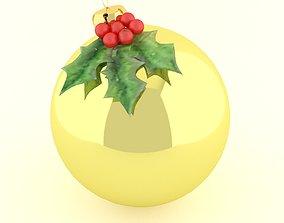 christmas ball 3D model pine