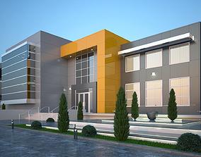 School modern 3D model