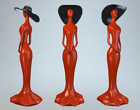 Statuette of Woman in a Hat 3D model