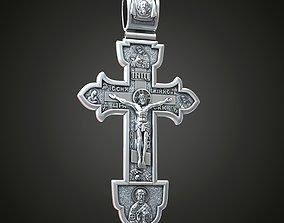 Cross saints cherubs christian jesus 3D print model