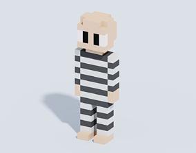 Voxel Human T9 3D model