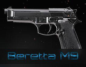 Beretta M9 3D asset rigged