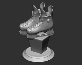 Hockey Ice Skate Shoes Collectible Figure Bust 3D