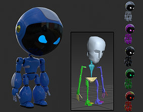 animated Robot rigged with 3Ds max Biped