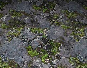 ground stone grass tile 05 3D