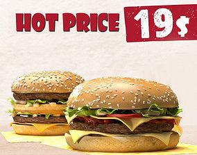 Burgers 3D model
