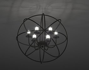 3D asset Modern Orbit Chandelier