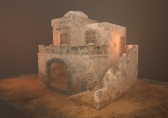 Old House 2 low poly model