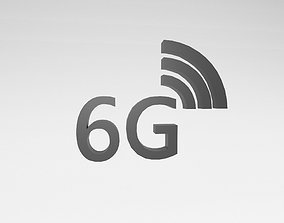 3D asset Mobile Signal Symbol 6G v1 001
