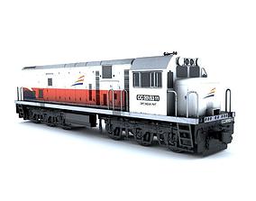 Locomotive CC201 3D asset
