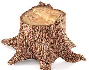 3D model Pine stump