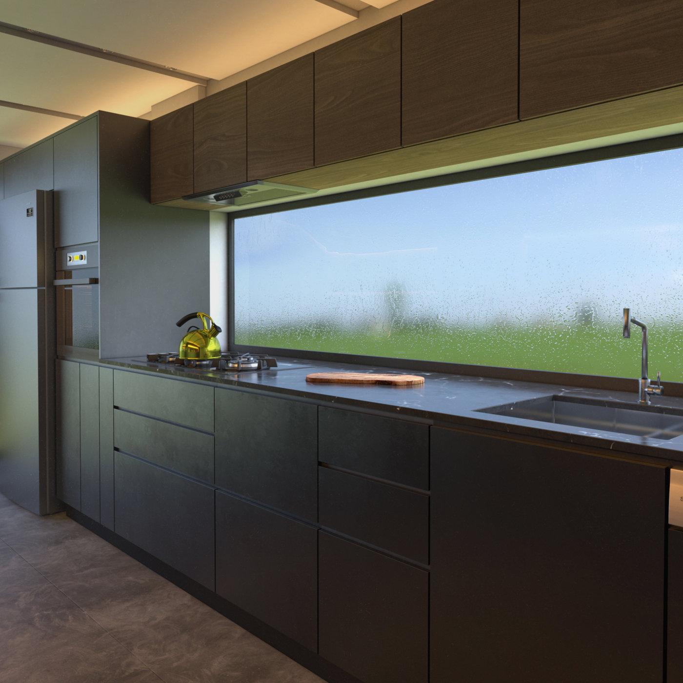Kitchen designing, modeling and rendering