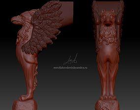 griffin 3D printable model handle