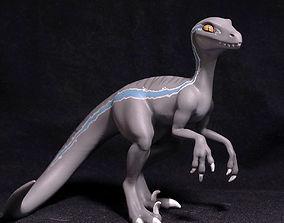 Velociraptor Blue printable