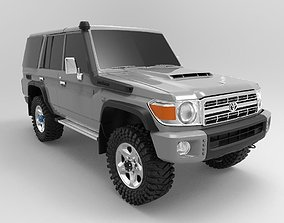 Toyota Land Cruiser Fj70 Series Wagon GXL 3D print model