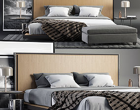 plaid Envy King Bed SET 3D
