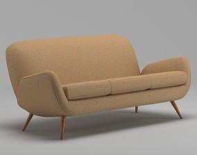 Brown Modern Sofa 3D
