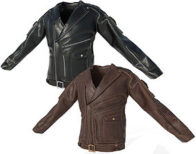 3D model Low poly Male Leather Jacket