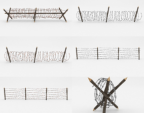 Barb Wire Obstacle Collection 3D
