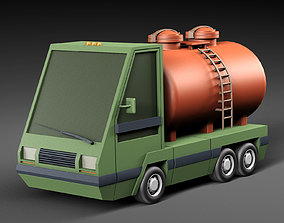 Cartoon car tank 3D asset
