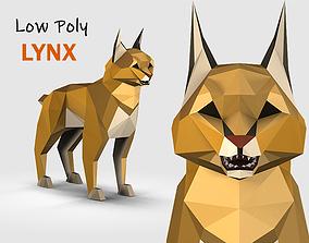 Low Poly Lynx 3D model