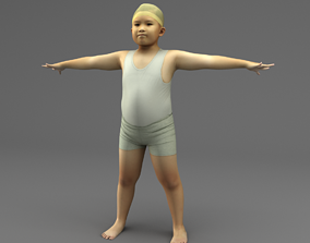3D model A Rigged Fat Boy