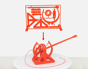 3D-printable Davinci catapult gift card da