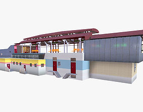 Rail Station 3D asset