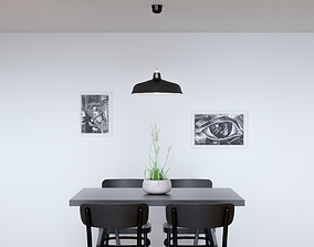 3D model Pendant Light With Three Different Color Options