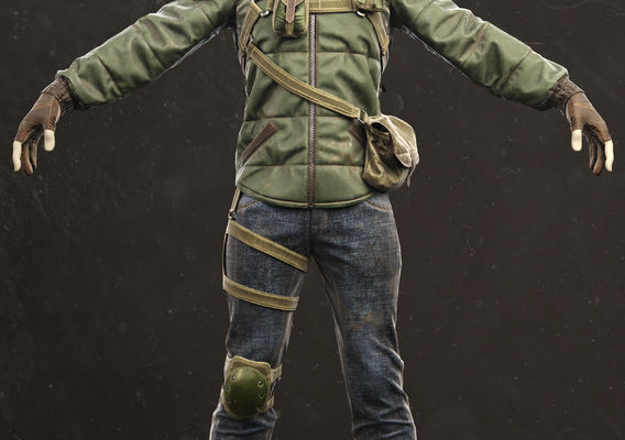 Soldier of post-apocalyptic world