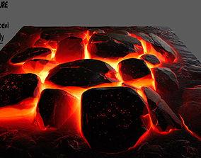 plant 3D model low-poly Lava Rock