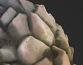 Stylized Stones PBR seamless texture 3D asset game-ready