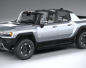 3D model Hummer EV 2022 with interior