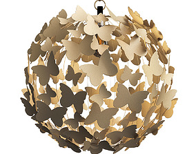 3D Antiqued Brass Butterfly Pendant