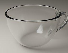 Glass cup 3D model teacup