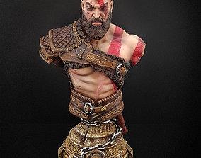 war Kratos Bust 3D printable model