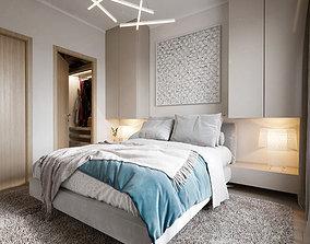 Master bedroom scene 3D