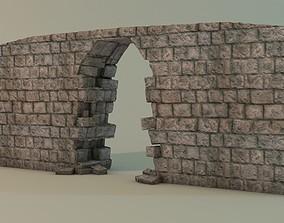 3D asset Broken wall Module