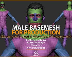 3D asset Male Basemesh for Production