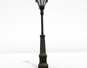 3D asset Low Poly Street Lamp