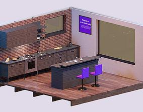 Isometric Kitchen 01 3D model