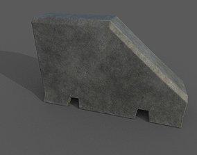 Concrete Barrier Type 12 3D asset