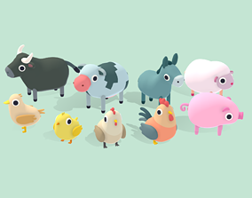 3D model Farm Animals - Quirky Series