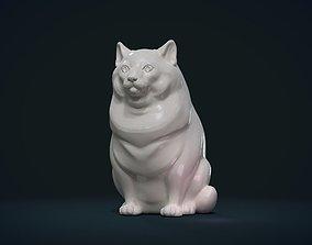 statue 3D print model Fat Cat