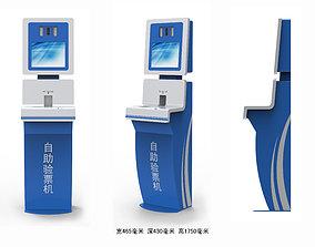 Self-service security machine 3D