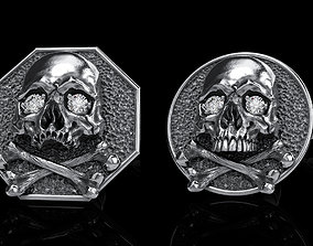 skull earrings studs 2 3D